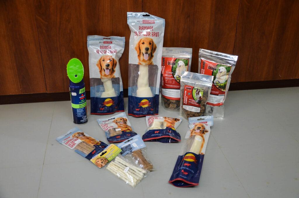 moulée et gâteries pour chiens