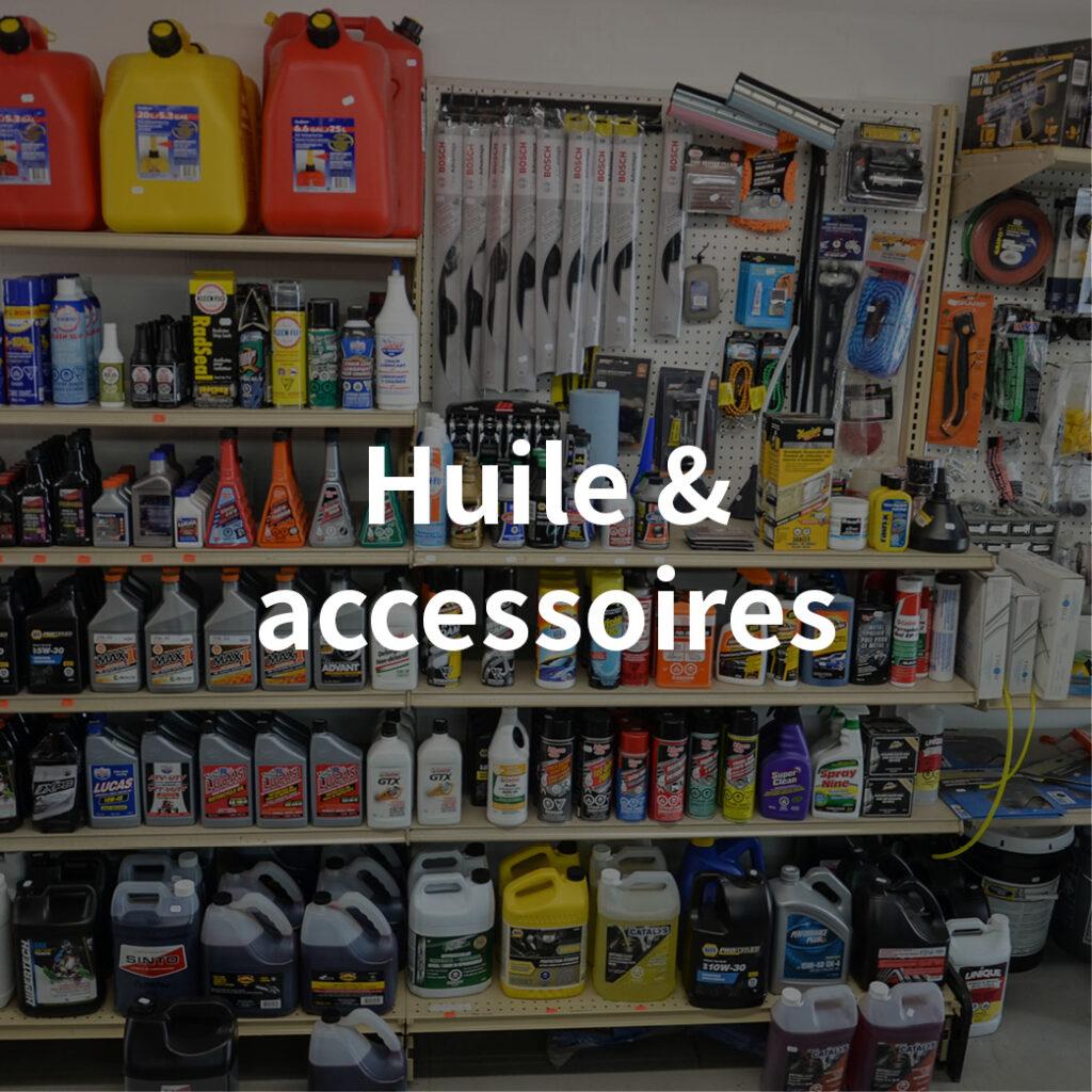 catégorie huile et accessoires