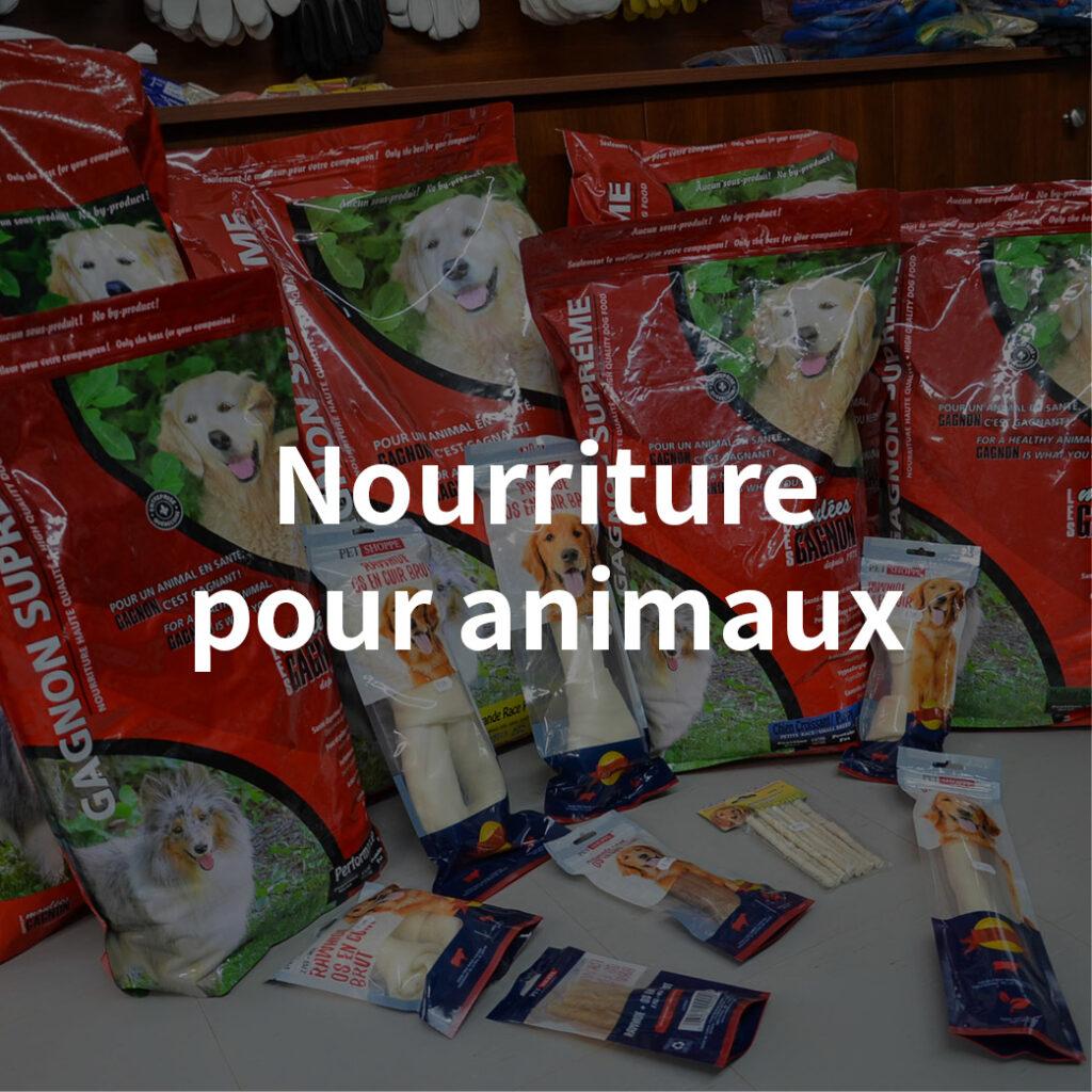 catégorie nourriture pour animaux